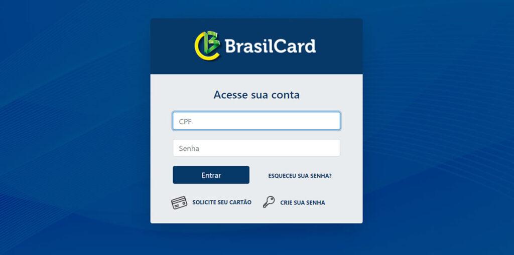 Saldo do Cartão BrasilCard