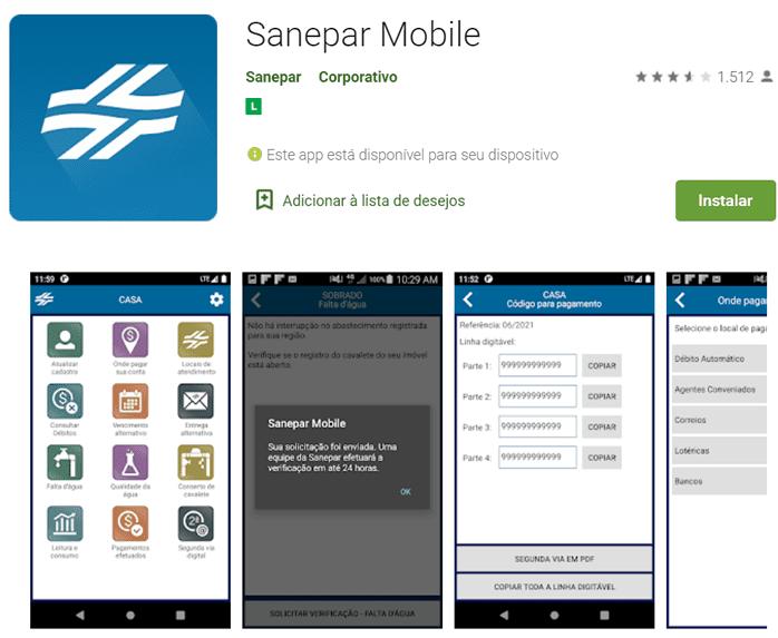app sanepar