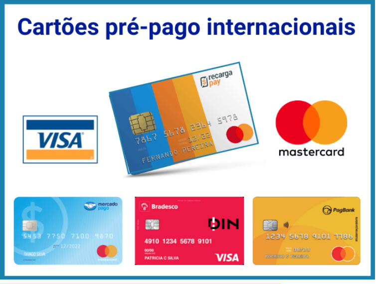 4 Melhores cartões pré-pago internacionais Mastercard e VISA