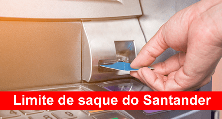 Limite de saque do Santander