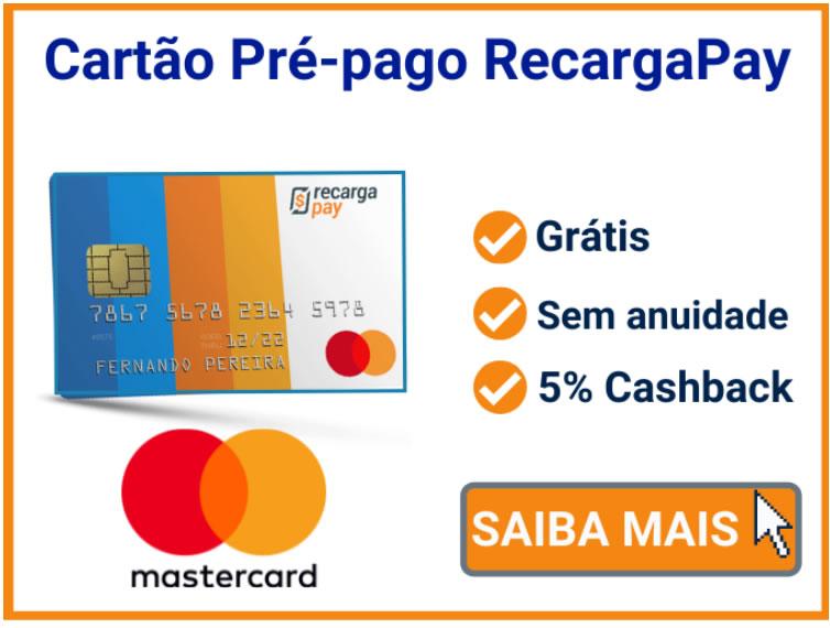 Cartão pré-pago internacional RecargaPay