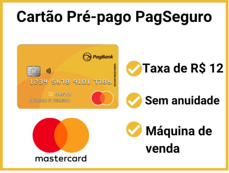 Cartão pré-pago internacional PagSeguro